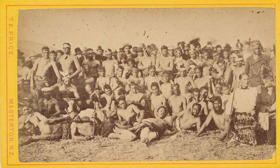 CDV photo Group Maoris New Zealand C1885