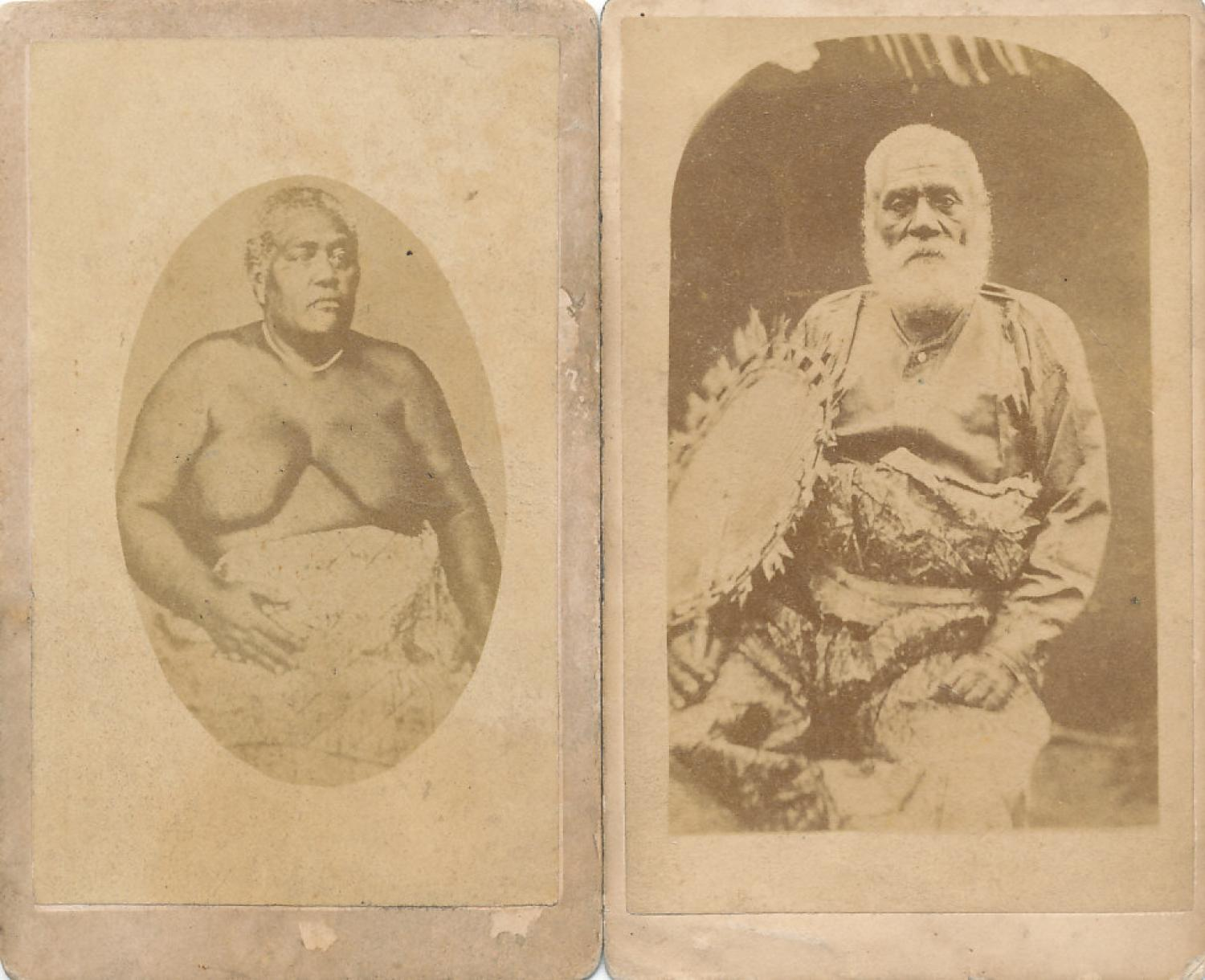 Two CDV Photos The King & Queen of Fiji