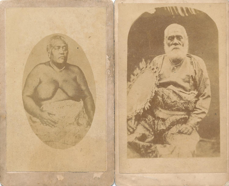 Two CDV Photos The King & Queen of Fiji