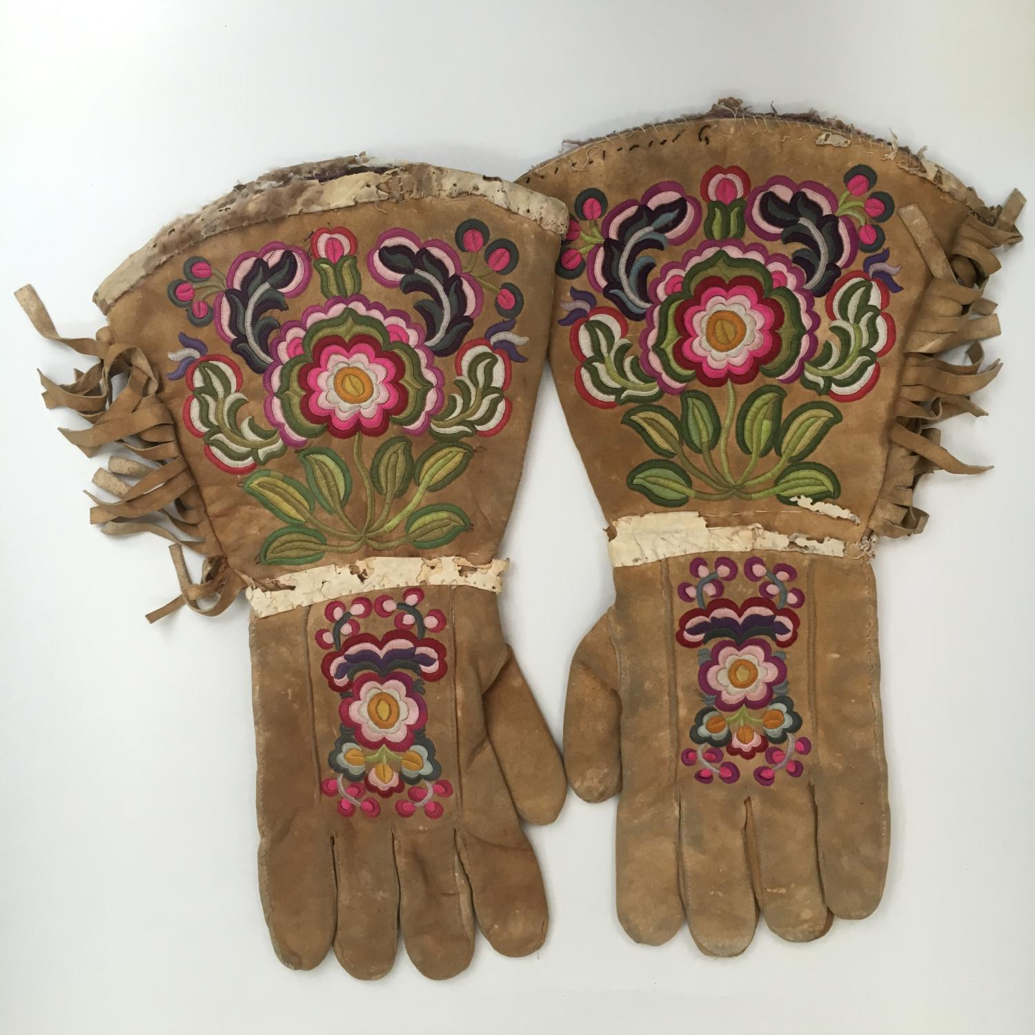 Pair of Native  American Indian Gauntlets