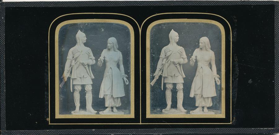 Daguerreotype of Statues at Crystal Palace