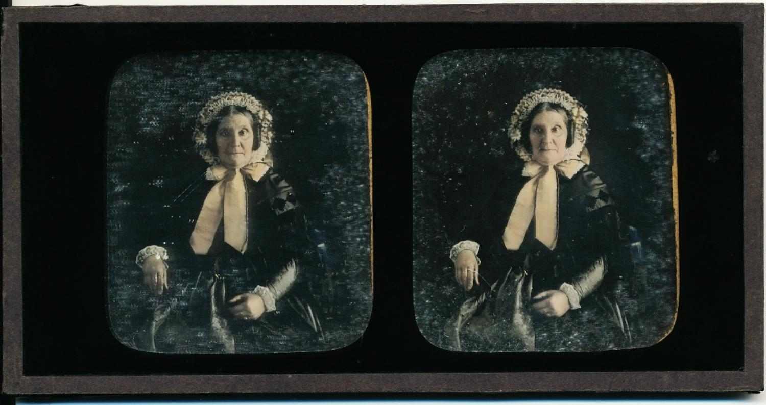 Stereoview Daguerreotype of A Lady