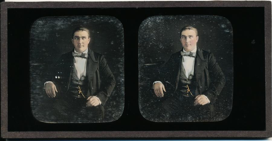 Stereoview Daguerreotype of A Gentleman