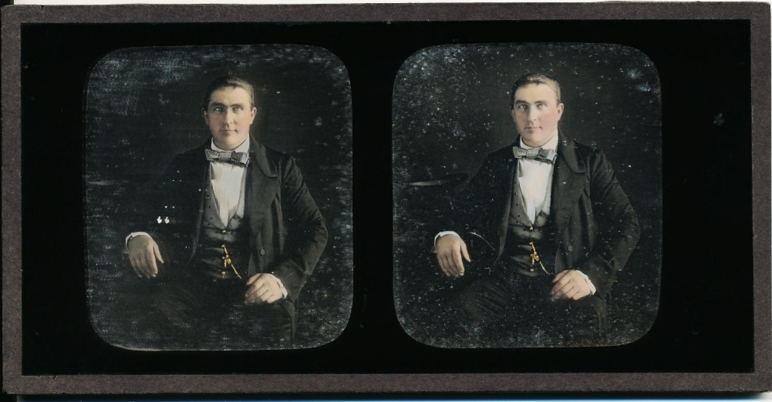 Stereoview Daguerreotype of A Gentleman