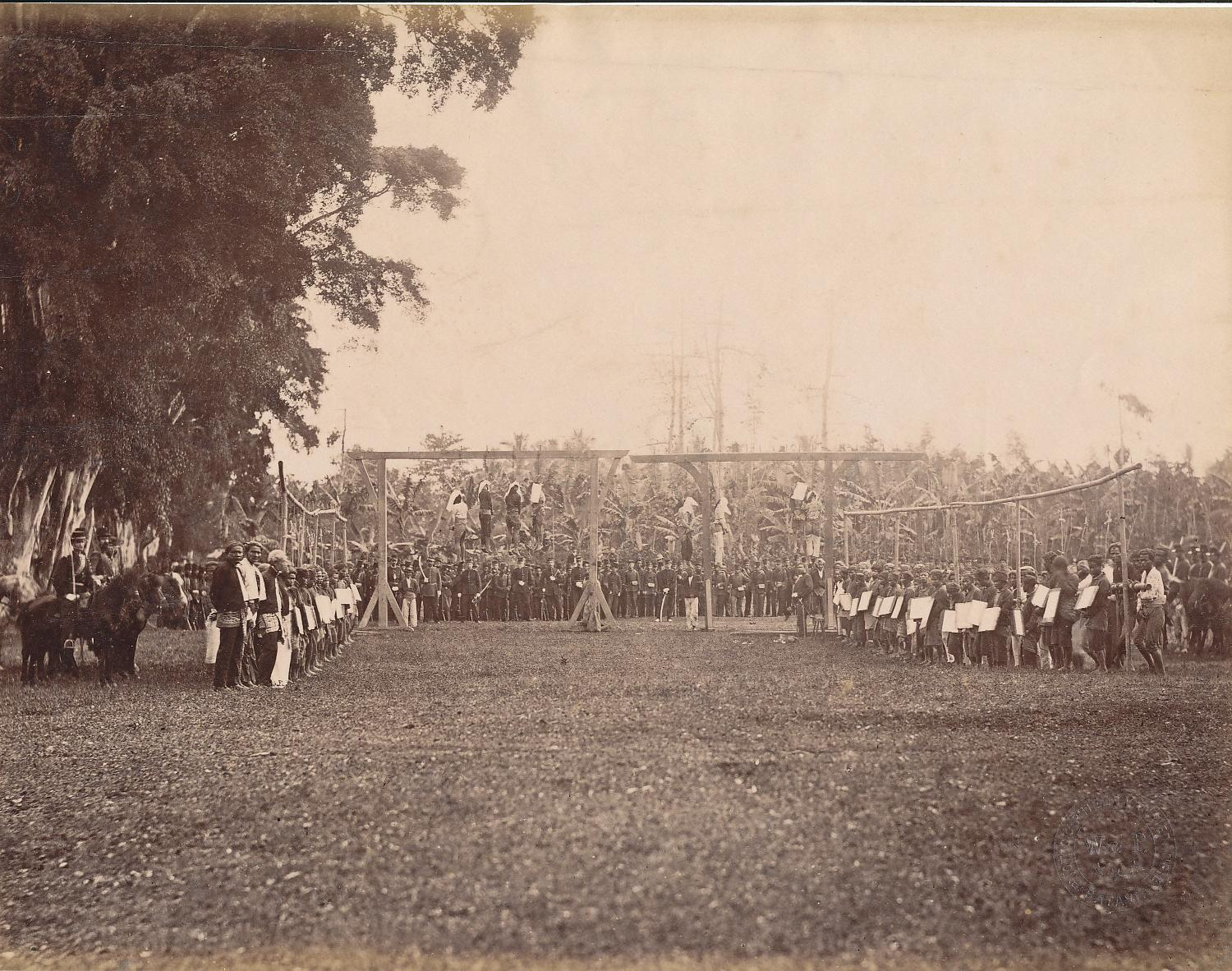 Execution of Rioters.Indonesia C1880