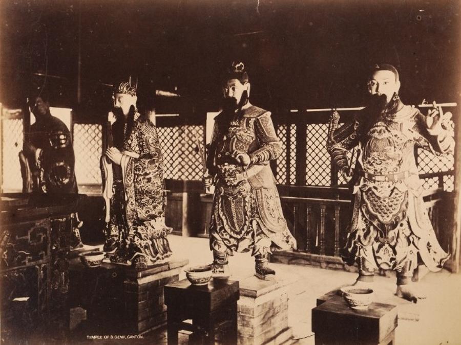 Temple of 5 Genii Canton China C1880