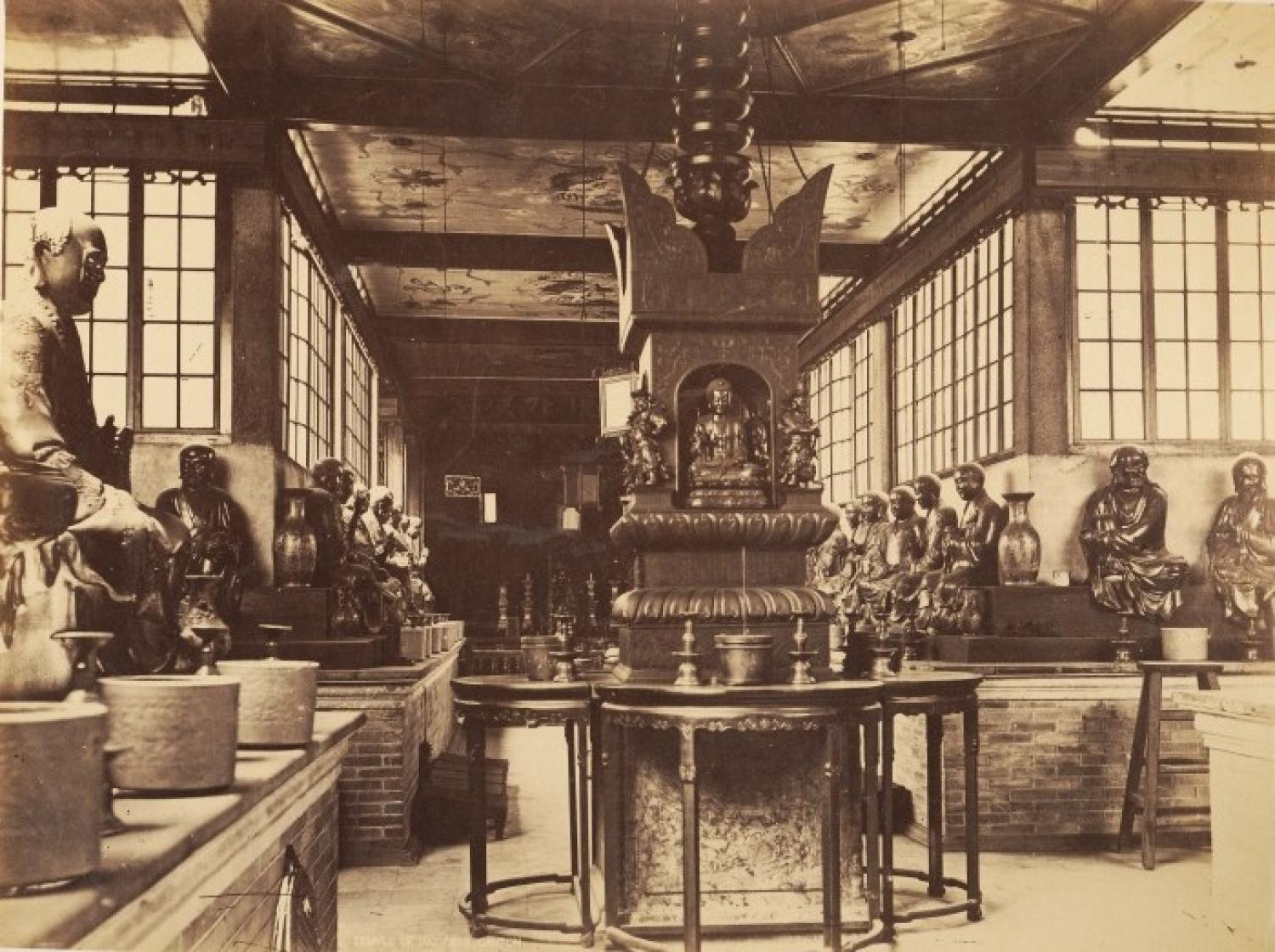 Temple of 500 Genii. Canton China C1880