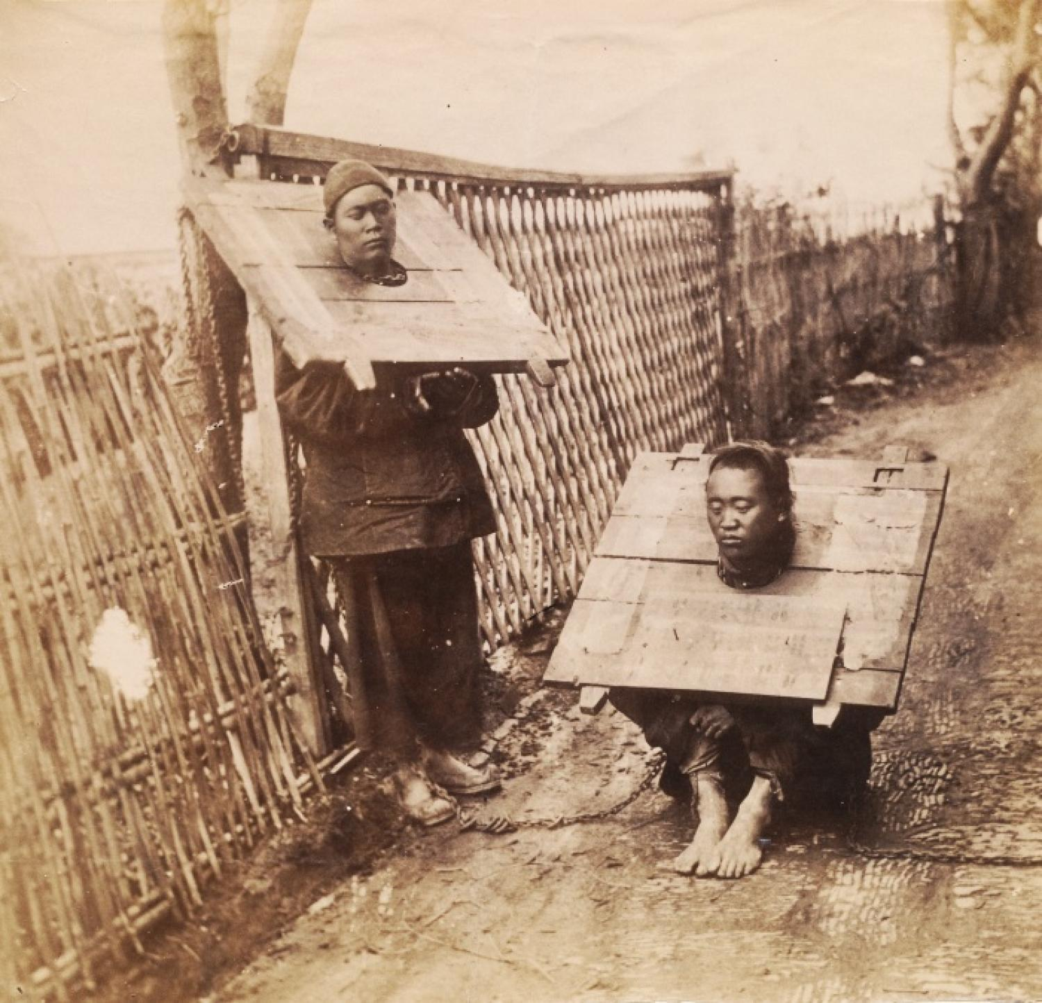 Prisoners in the Cange China By William Saunders.C 1870