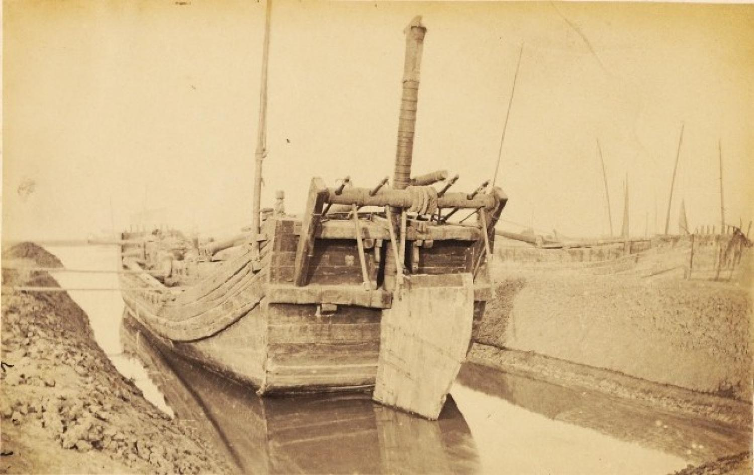 Junk in Winter Quarters - Taku Peking By John DudgeonC1865