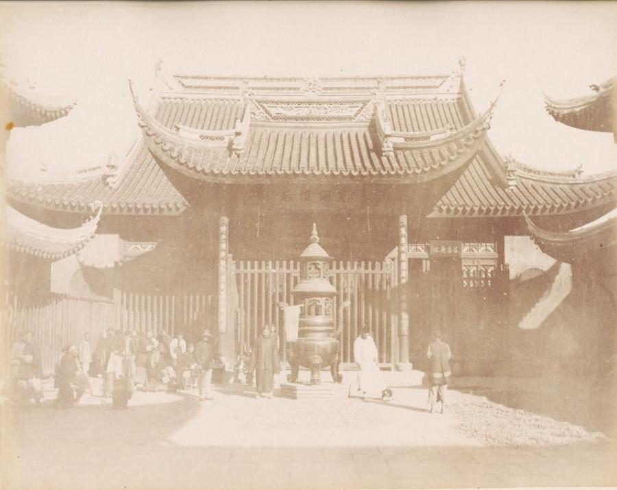 Chinese Temple in Shanghai China C1870