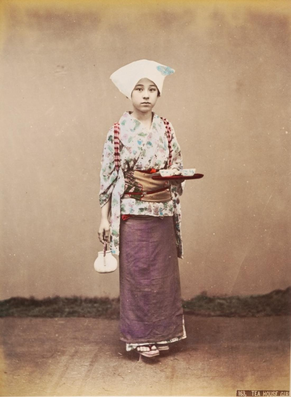 Tea House Girl Japan C1880