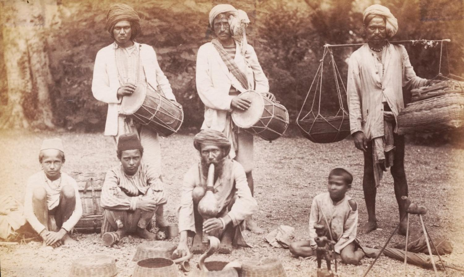 Snake Charmers India C1890