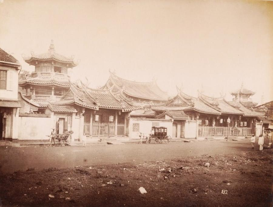 A Chinese Temple in Penang Malaysia C1885