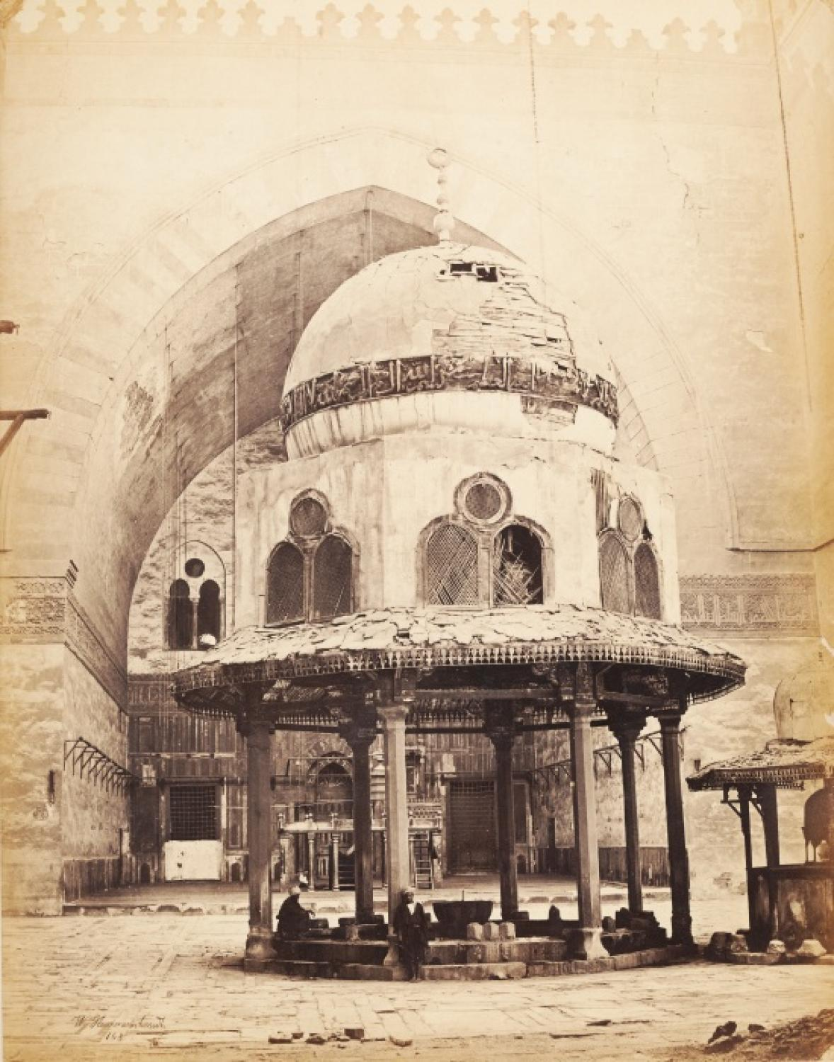 Interior of Sultan Hassan Mosque Egypt C1865