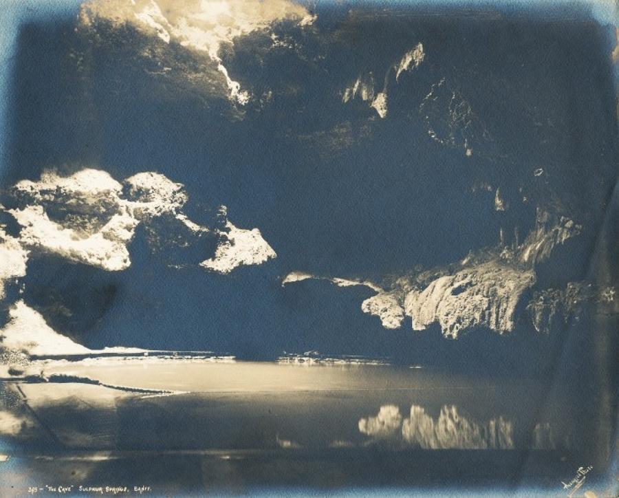 The Cave Sulphur Spring Banff Canada C1900