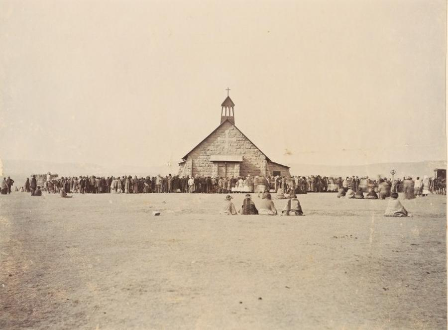 American Indians outside a Church U.S.A.C1900