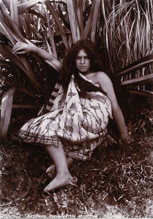 Maori Girl New Zealand By Iles  C1895