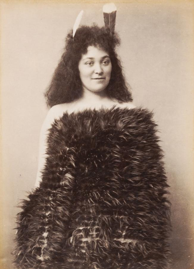 Native Maori Girl New Zealand By Iles C1890