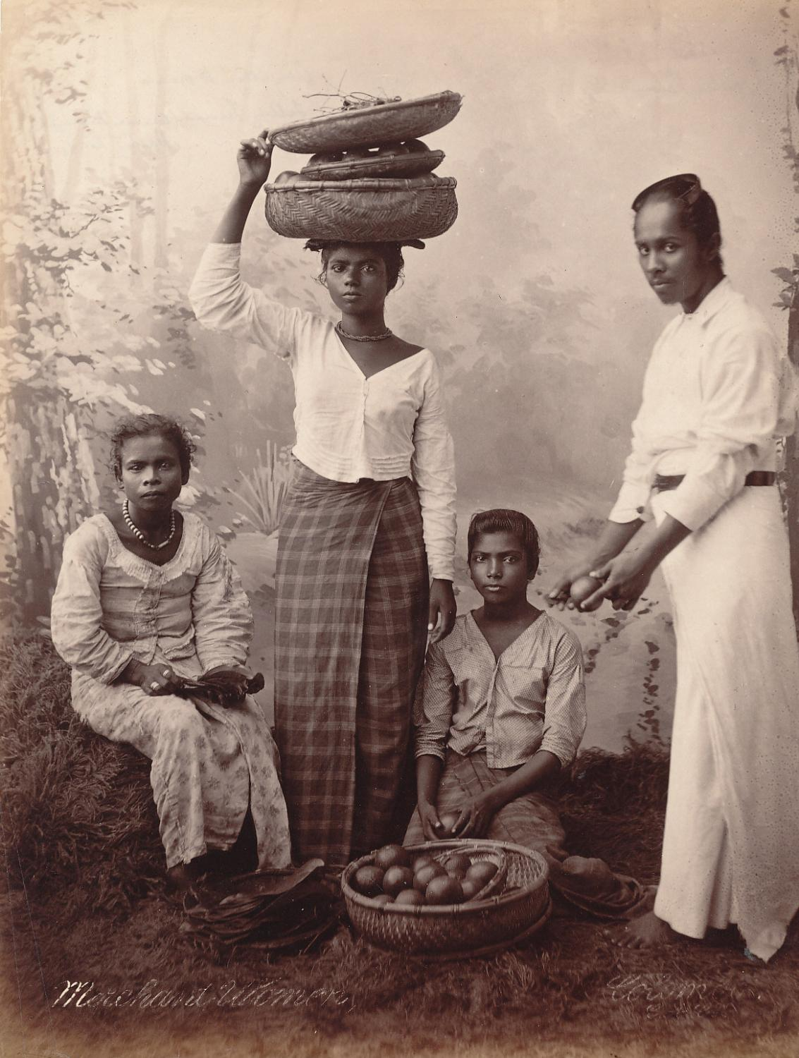 Marchant Women in Ceylon C1880