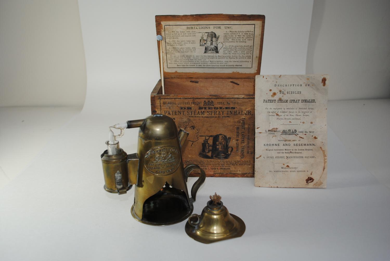 Dr. Siegles Patent Steam Spray Inhaler C1864