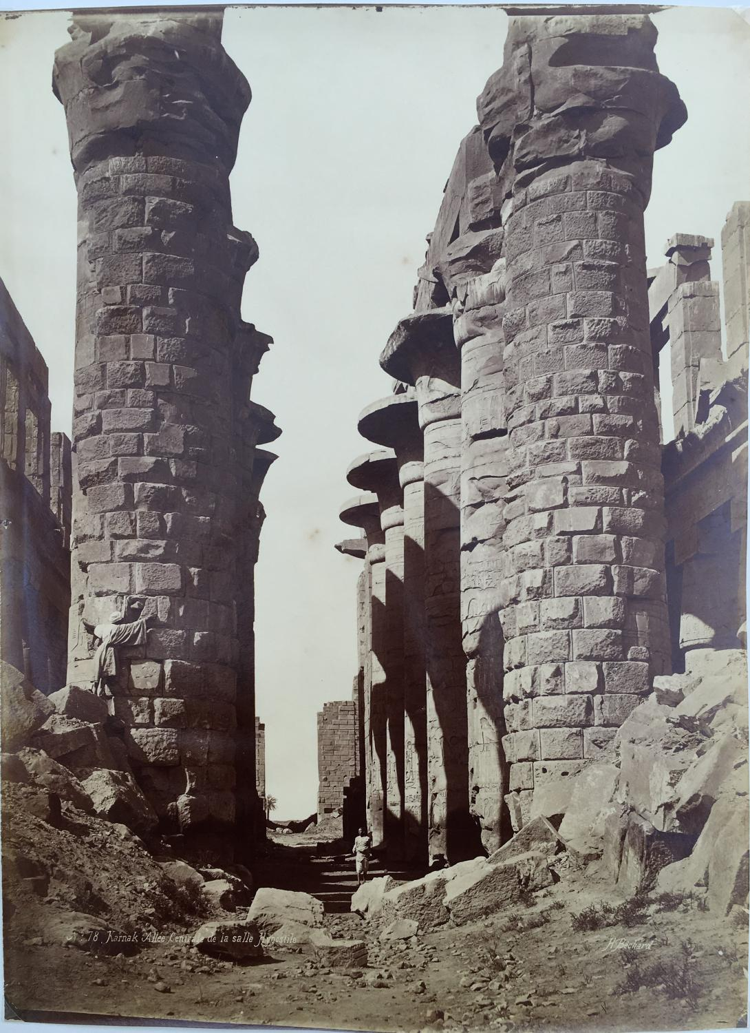 Karnak Egypt By Henri Bechard C1860-70