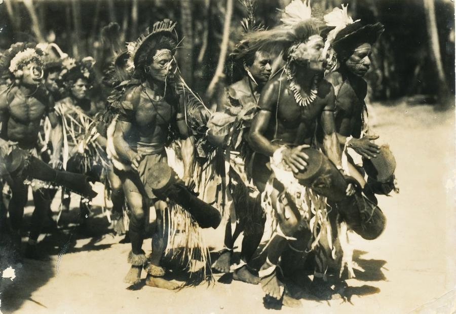 Dancing Mailu Warriors Papua New Guinea C1930