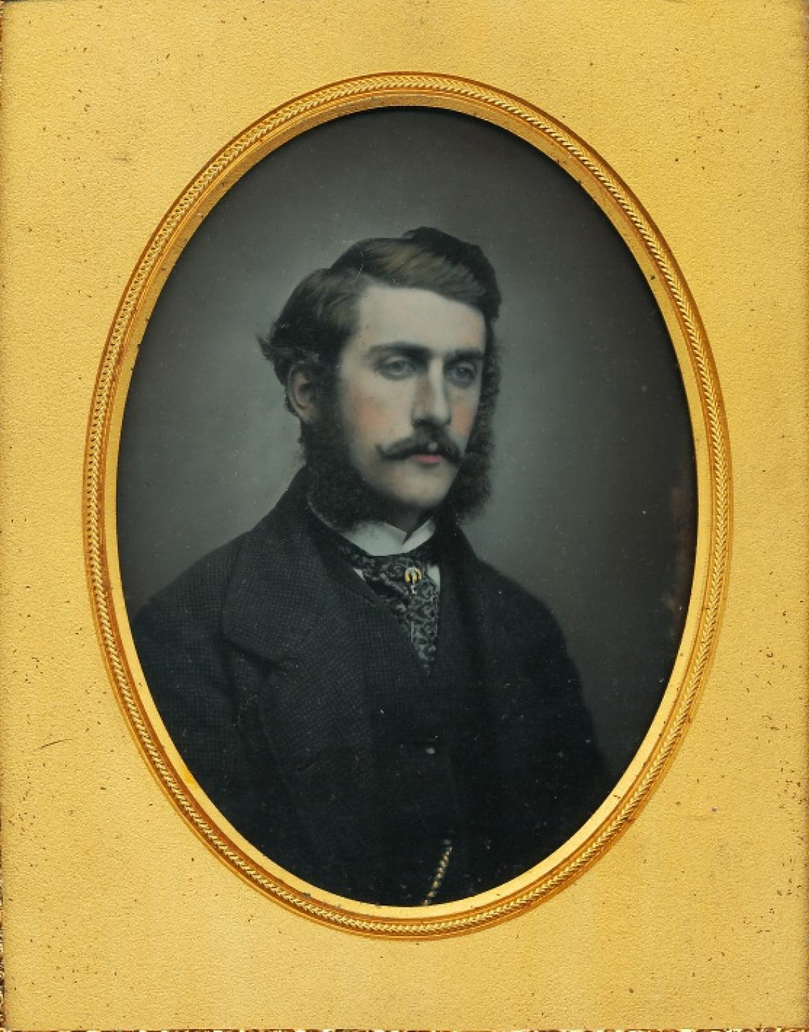 Hand Tinted 1/2 Plate Ambrotype A Gentleman