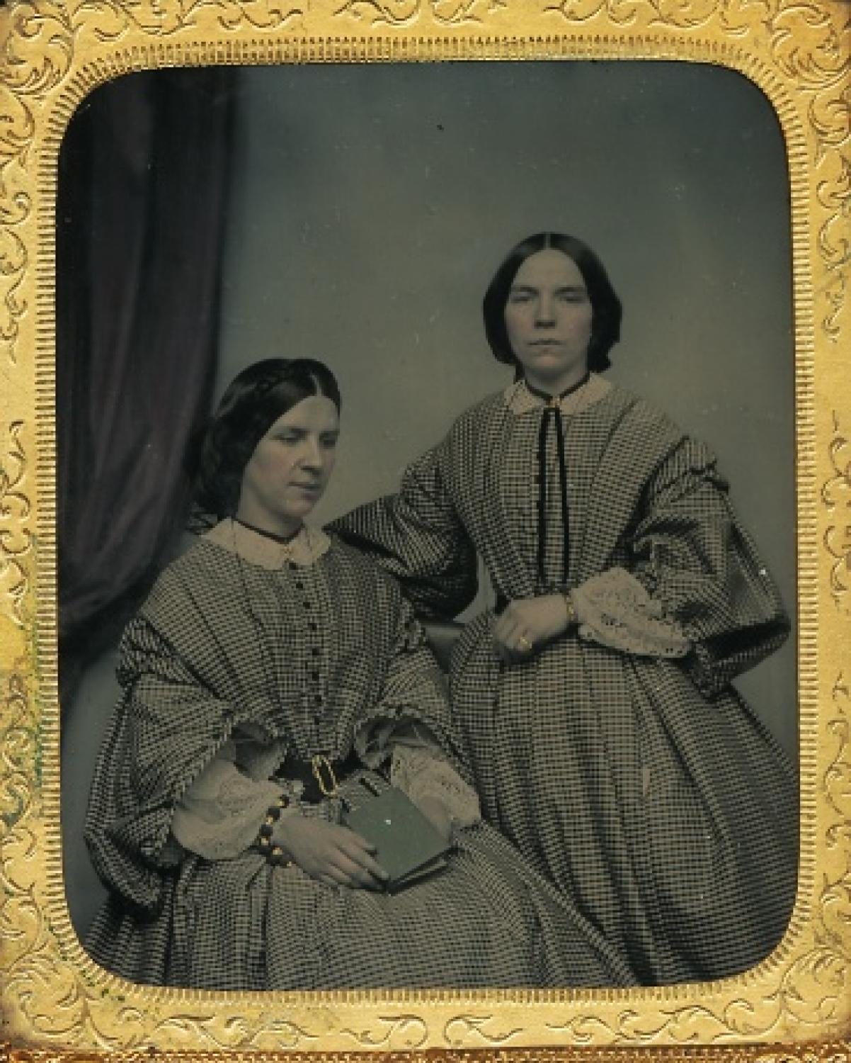 1/6 Plate Ambrotype  Twin Sister