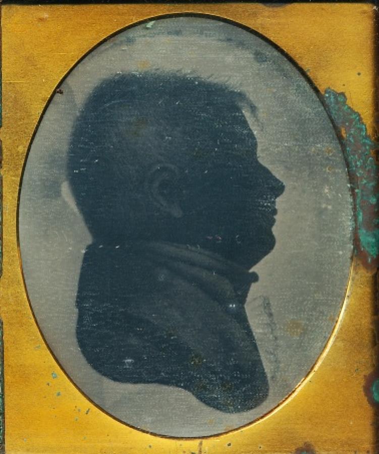 1/6 Plate Daguerreotype Rare Silhouette