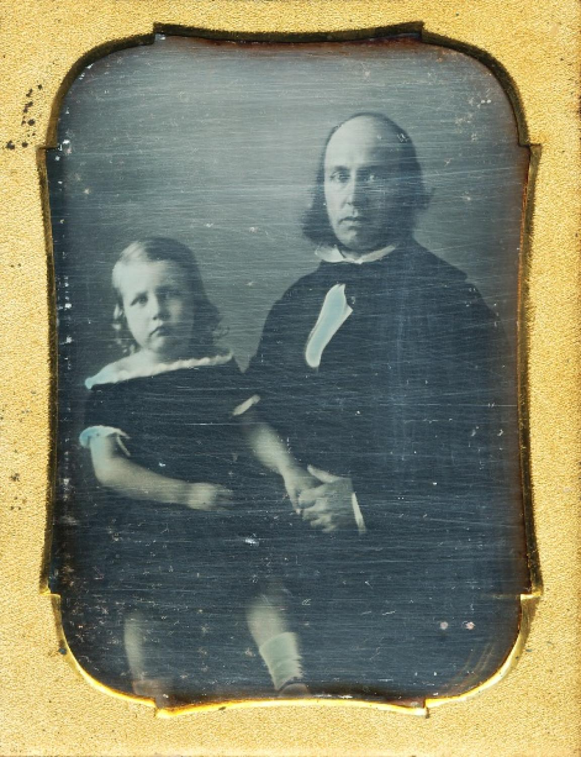 1/4 Plate Daguerreotype Father & Daughter