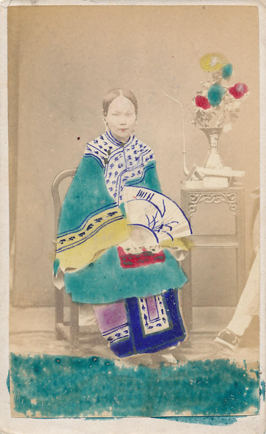 CDV A Chinese Lady with bound feet C1875