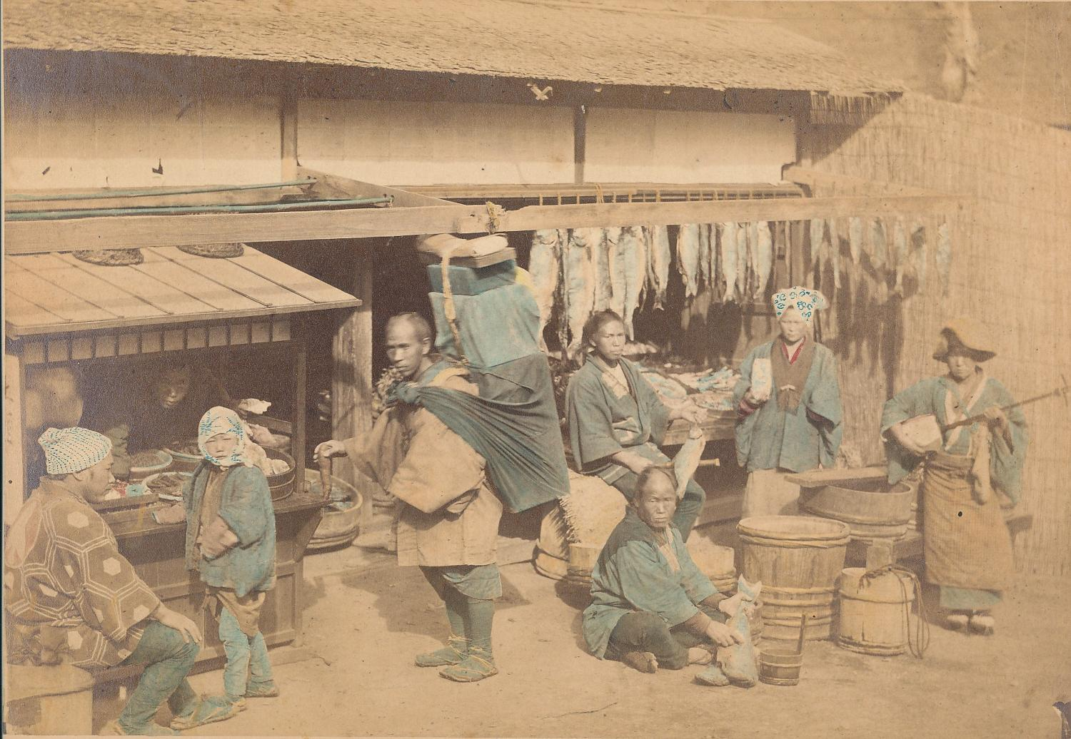 Husking Rice Japan By Felice Beato C1875