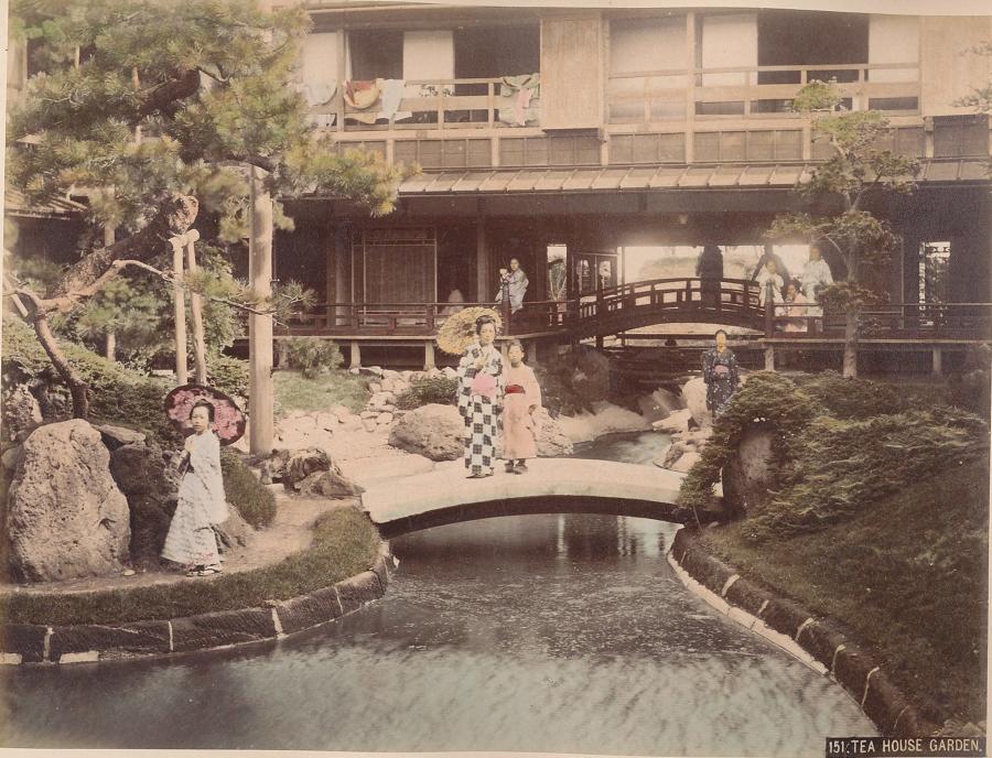 Tea House Garden Japan C1880