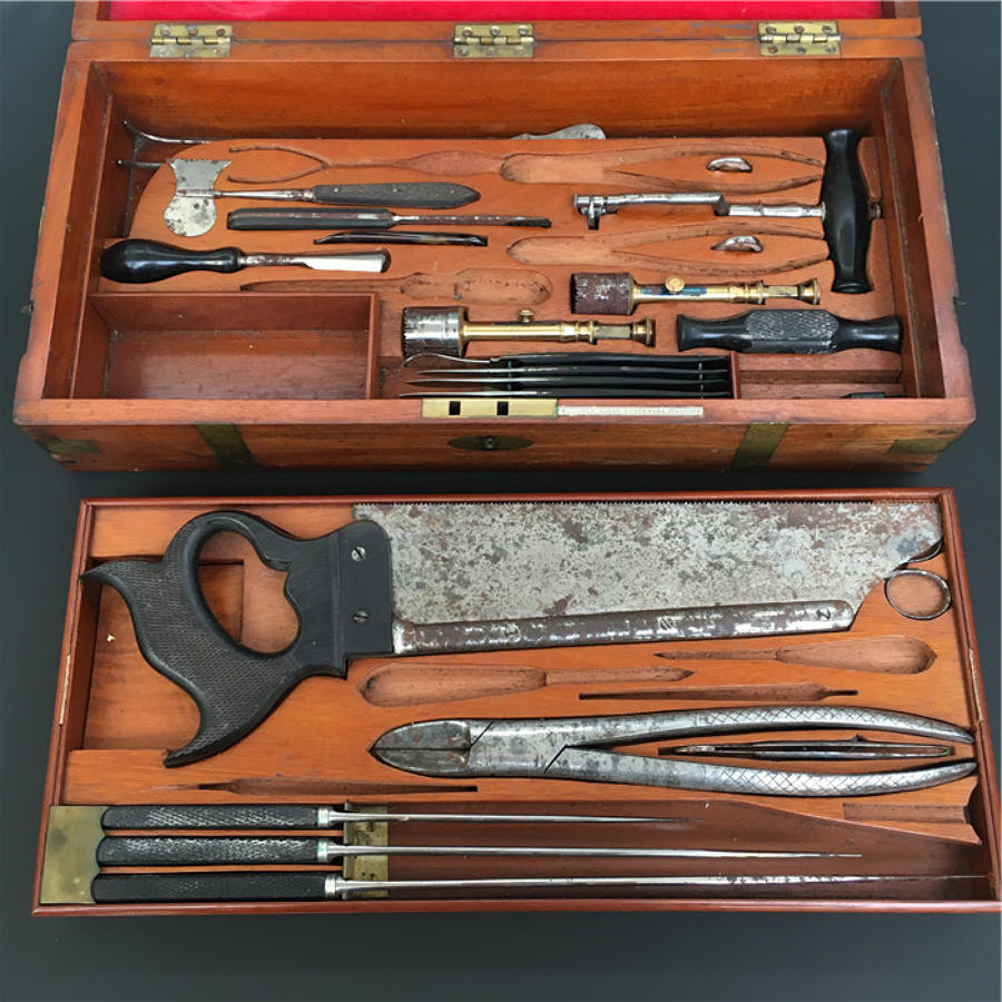 Boxed Medical Instrument Set By John Millikin C1850