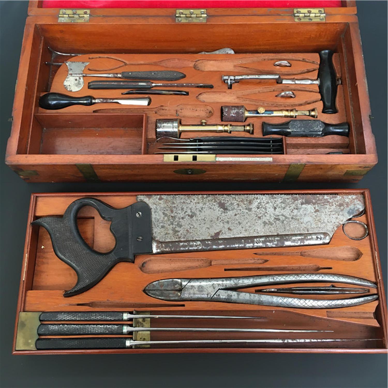 Boxed Medical Instrument Set By John Millikin C1850