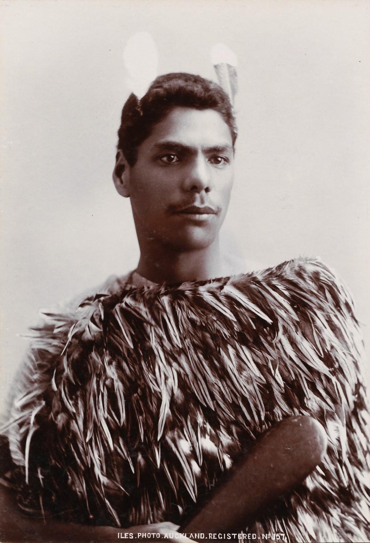 Maori Man with Patu New Zealand  C1890