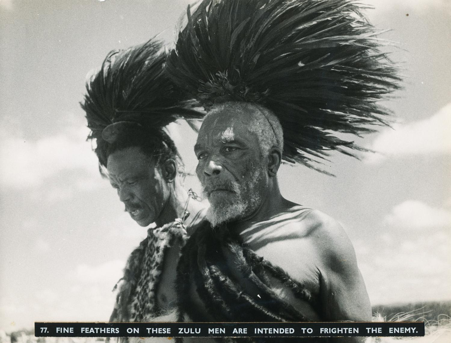 Zulu Men are Intended to Frighten the Enemy C1930