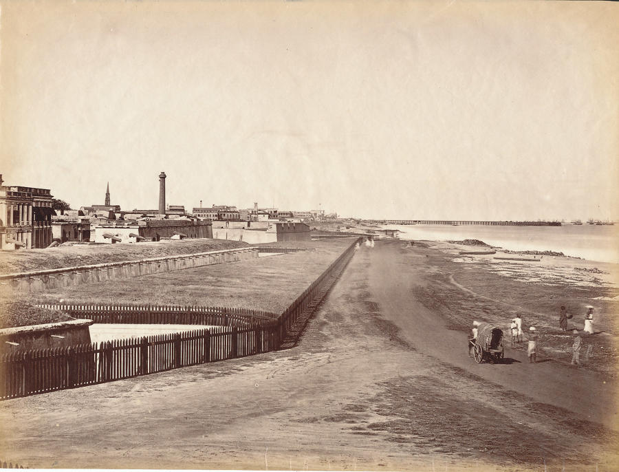 View of Madras from the Flag Staff India C1865 - 1870