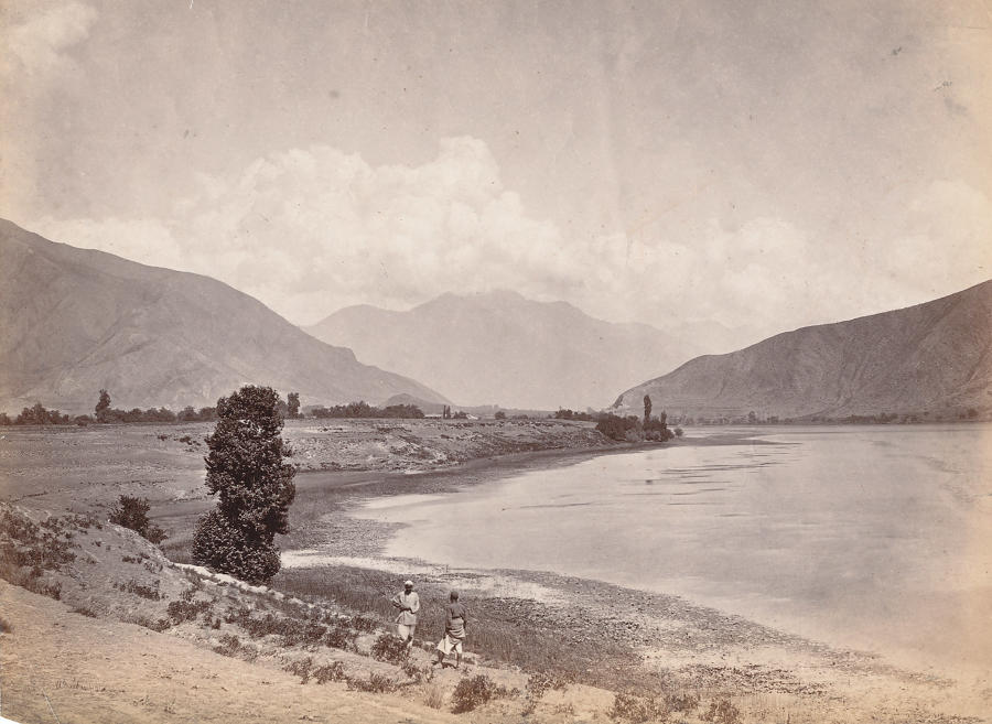 Manasbal Lake Kashmir India, C1865. By Baker.