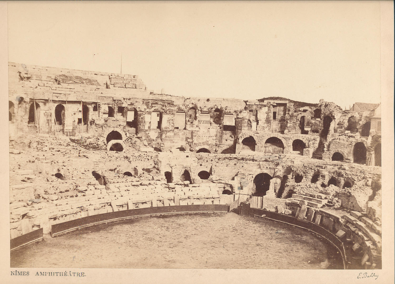 Nimes Amphitheatre C1865 By E.Baldus