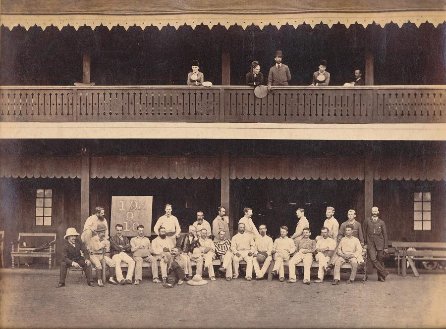 Original Photo The Cricket Team Rangoon Burma 1879