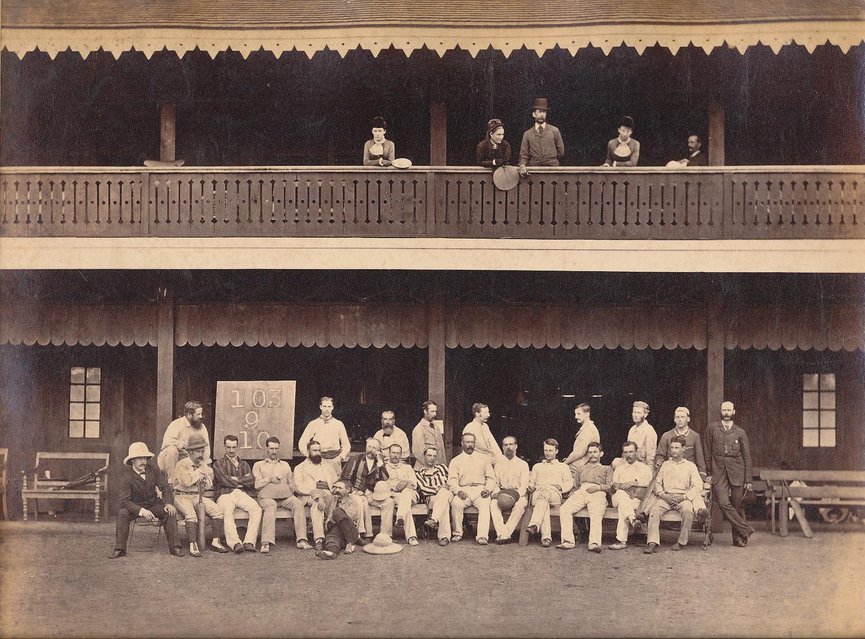 Original Photo The Cricket Team Rangoon Burma 1879