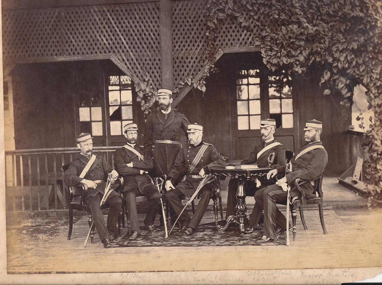 Named Military Officers  Rangoon Burma 1879
