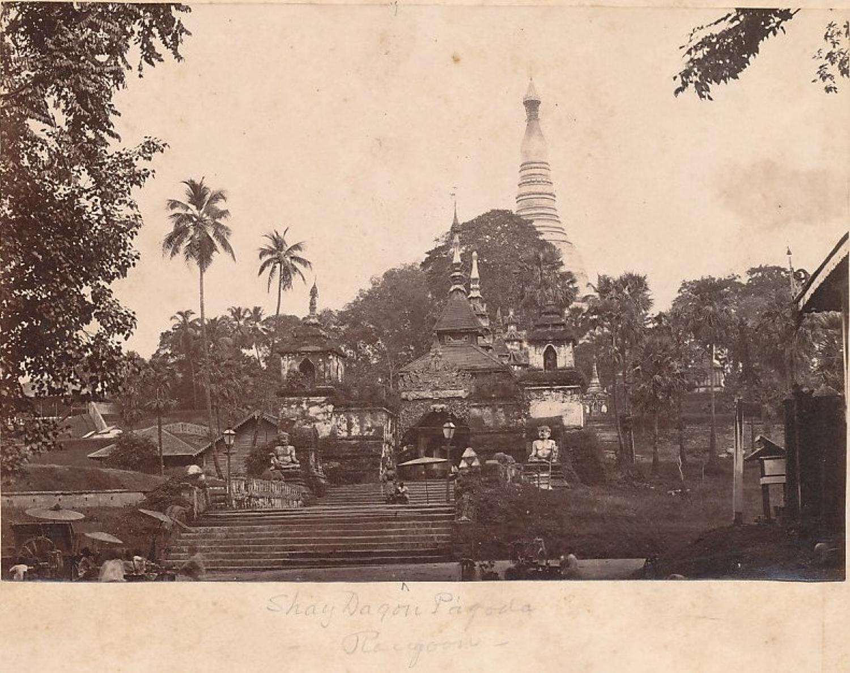 Shay Dagon Pagoda Rangoon Burma C1875