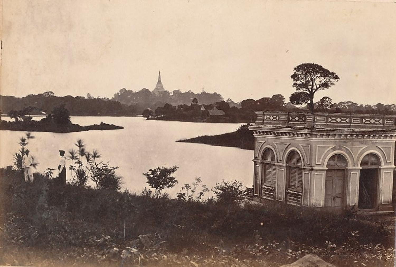 A View in Rangoon Burma C1875