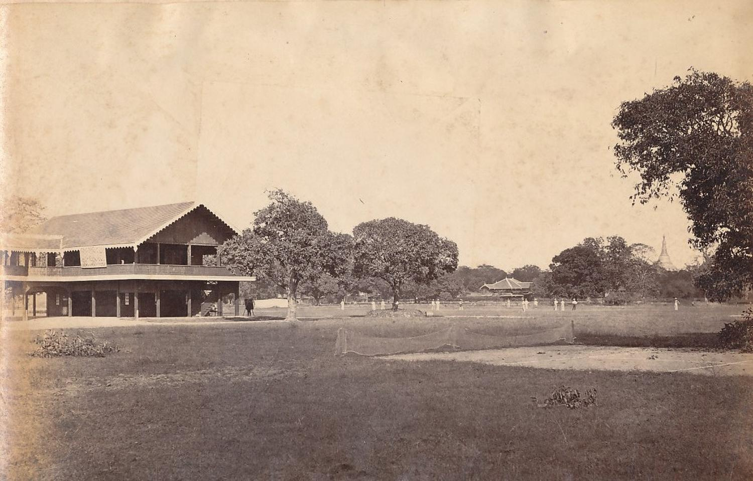 The Cricket Ground Rangoon Burma C1875