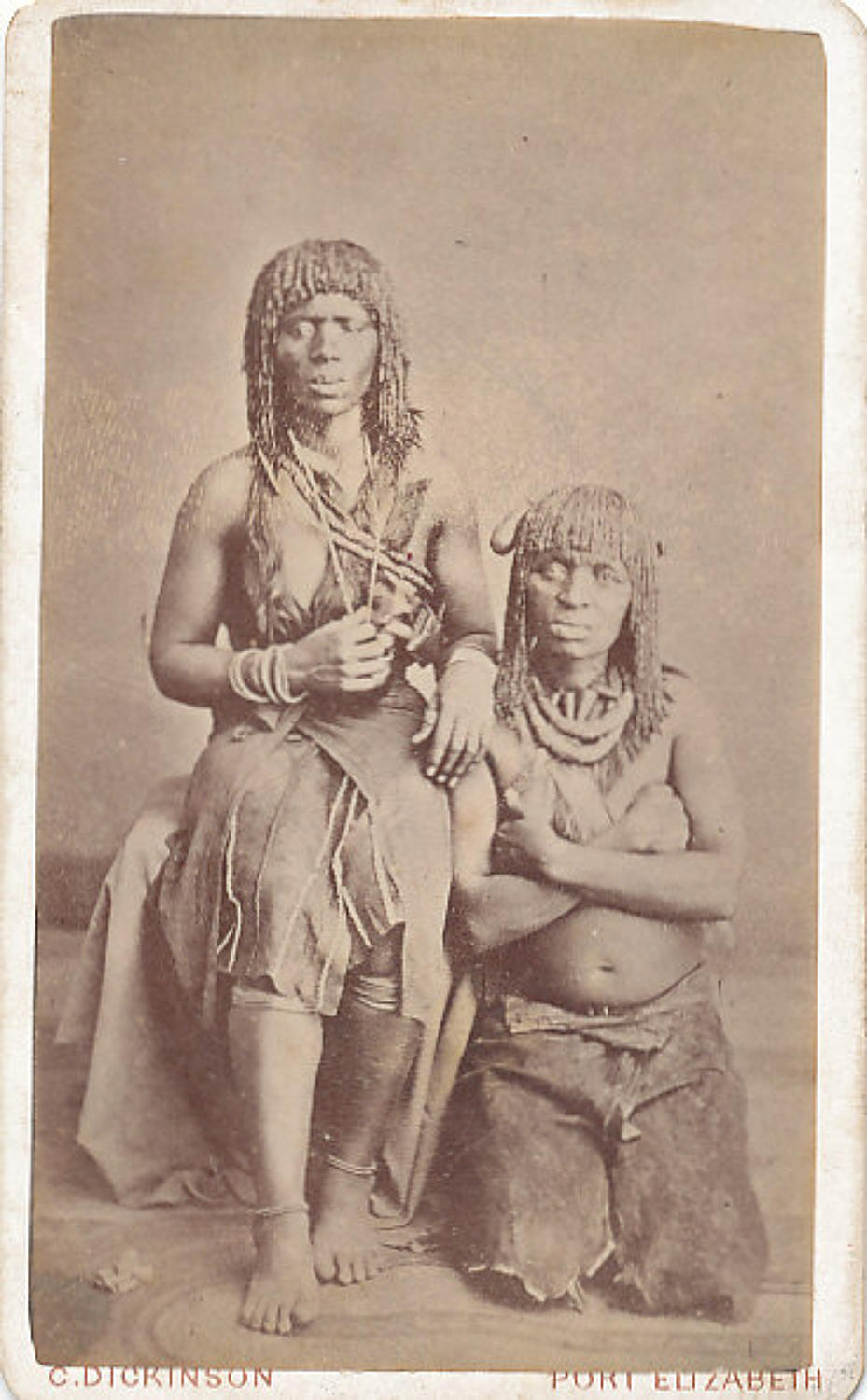 CDV Native Girls Port Elizabeth South Africa C1880