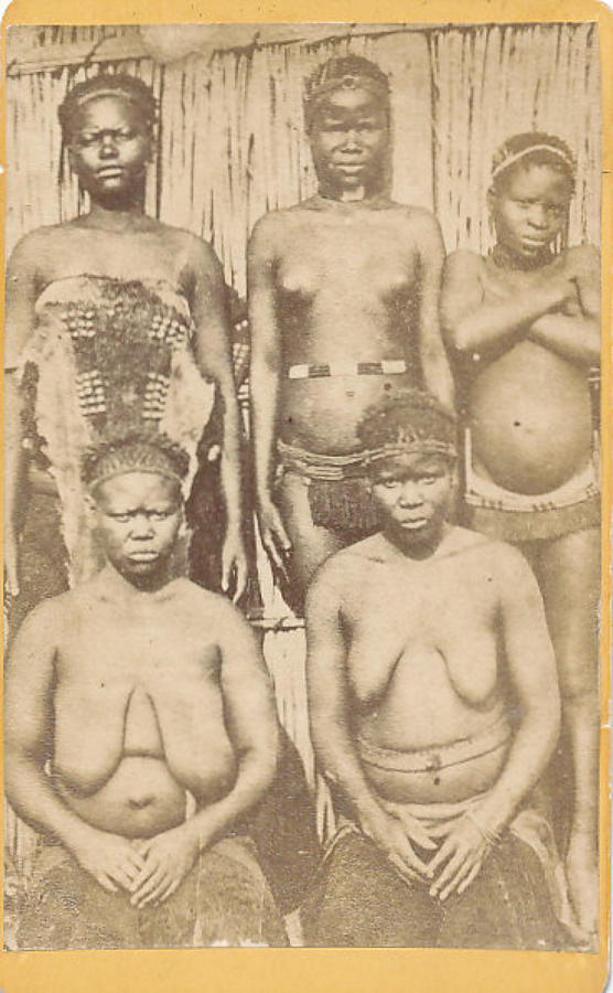 CDV Photo Zulu Girls South Africa C1880