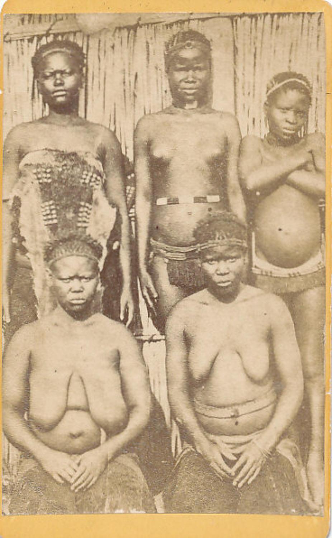 CDV Photo Zulu Girls South Africa C1880