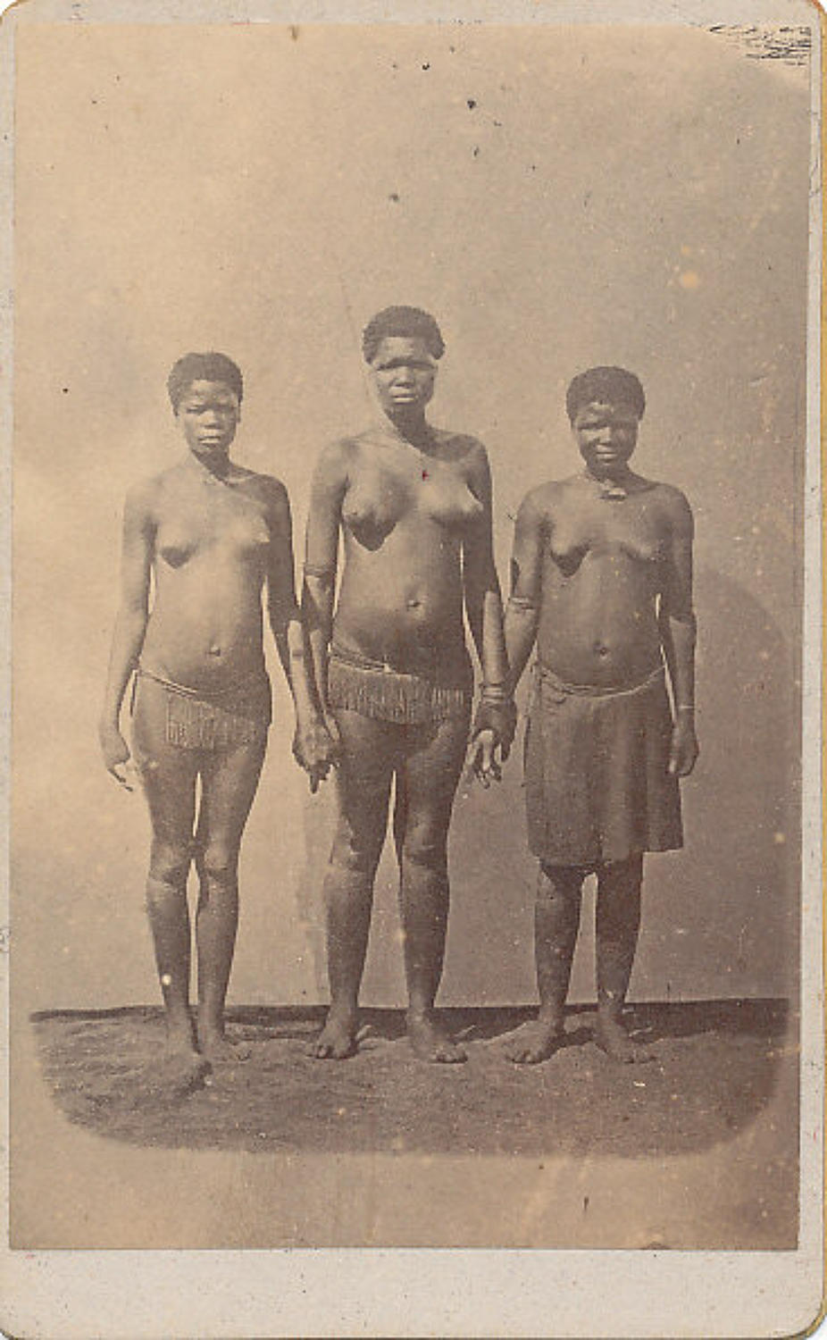 CDV Photo Three Zulu Girls South Africa C1875